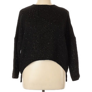 Zara Basic Black Long Sleeve Blouse